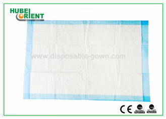 Non Woven Hospital Disposable Products White Blue Disposable Bed Pads , Free Samples