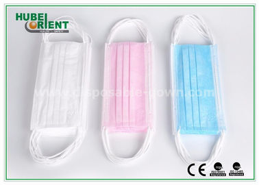 Food Process Non Woven Disposable Face Mask With Ear Loop , ISO13485 / ISO9001 Approved